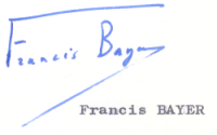 Signature Francis Bayer
